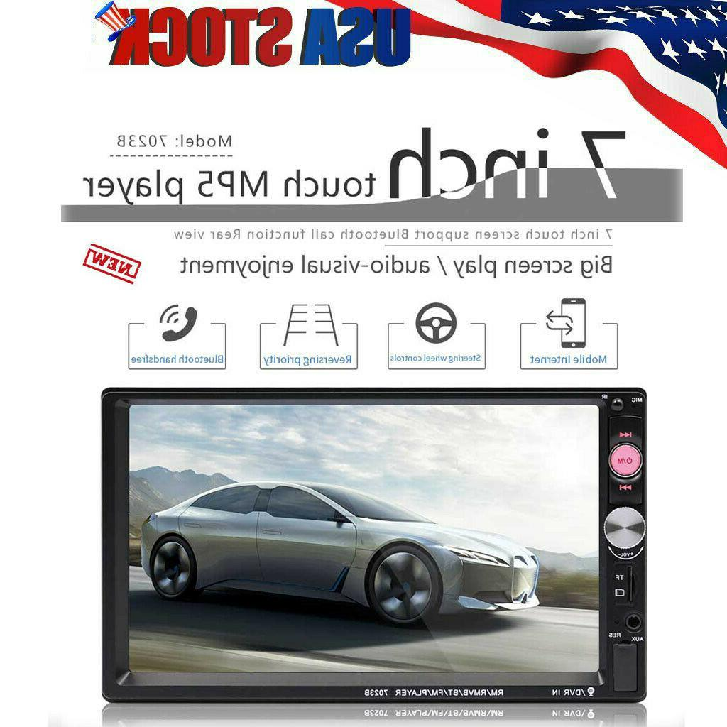 7 Inch Double 7023B 2 DIN FM Stereo Touch
