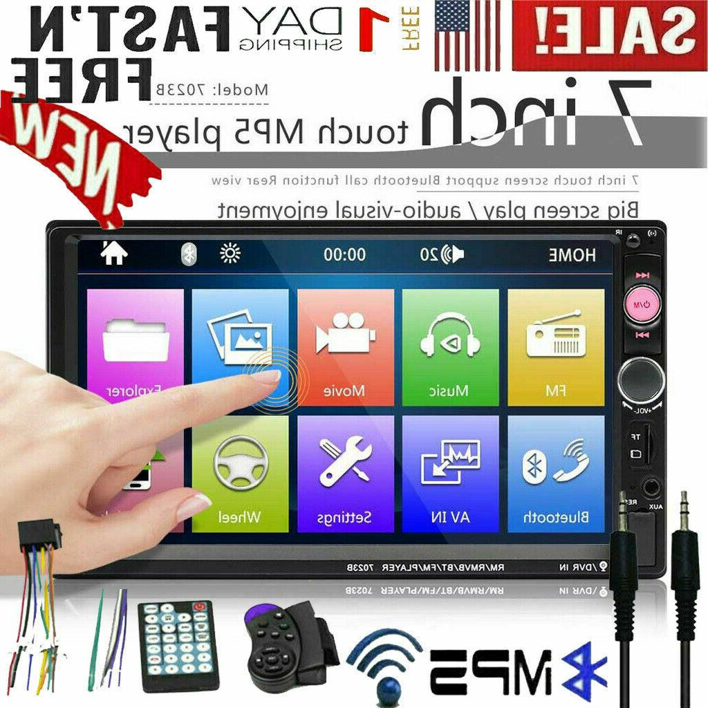 7 2 DIN Car FM Stereo Radio Touch