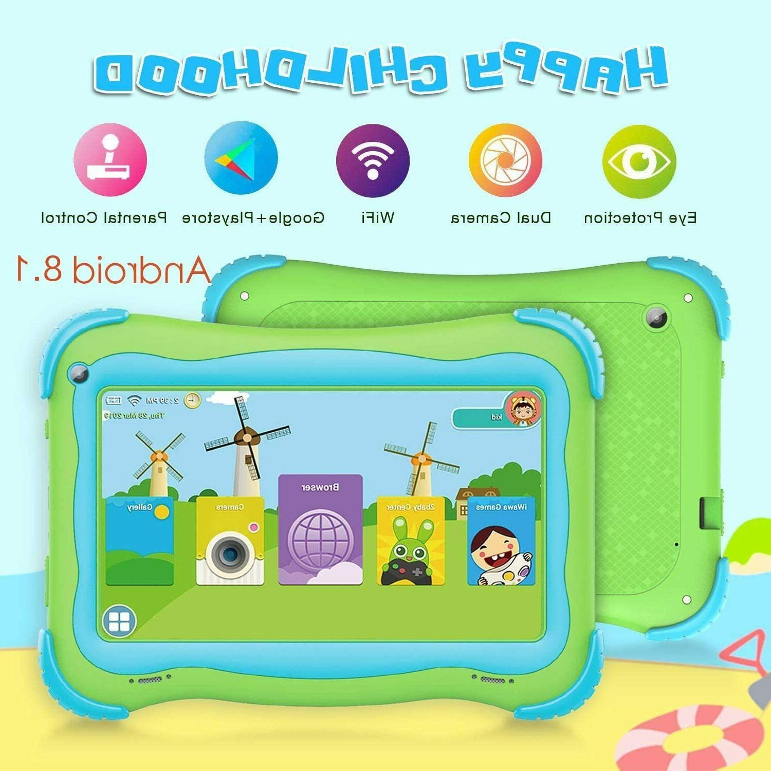 7'' Inch Kids Tablet Android 8.1 Quad Dual WiFi