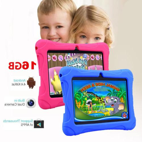 7 inch kids tablet android dual camera