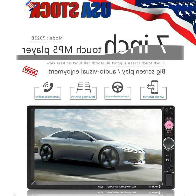 7inch 2 DIN Car Multimedia FM Radio MP5 Player Bluetooth Ste