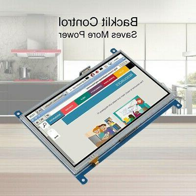 """7"""" Resistance Touch 1024x600 Pi"""