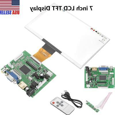 "7"" inch TFT LCD Module Display w/HDMI+VGA+Video AV Driver Bo"