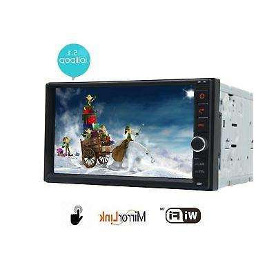EinCar 7 inch Touch Screen Android 5.1 Double Din Head Unit