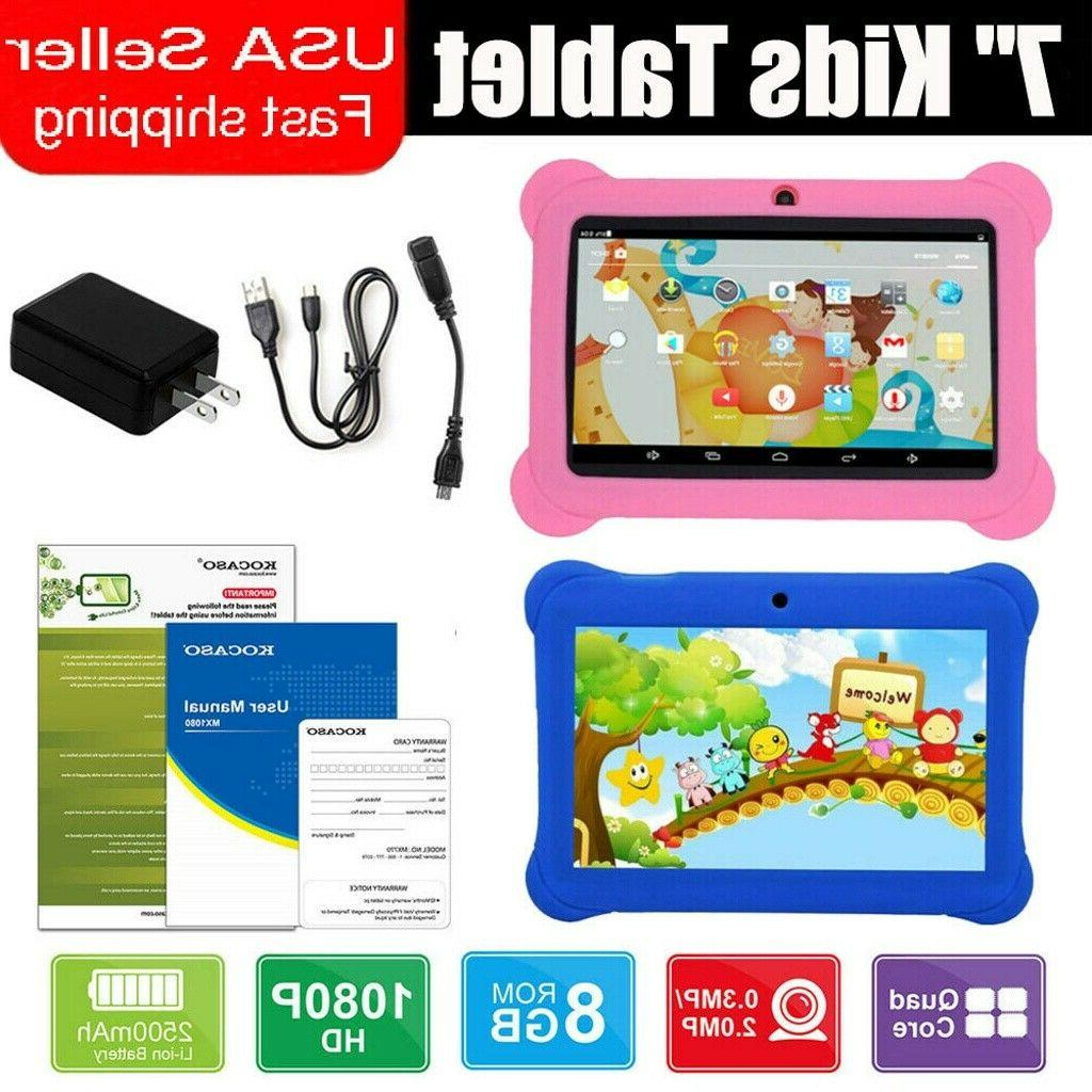 7 kids tablet android dual camera wifi