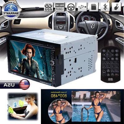 7inch Double 2 Din Car DVD CD Player Bluetooth Radio Stereo