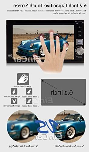 "Android 5.1 Navigator Capacitive Screen USB Bluetooth AM PC DVD Stereo 2 Din Head Unit 7"" iPod Aux Internet Back"
