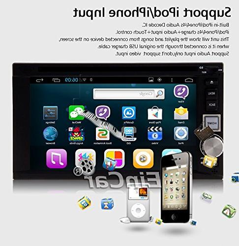 Android Capacitive Touch Screen USB Bluetooth SD AM Radio Receiver PC System DVD Player 2 In Head Aux