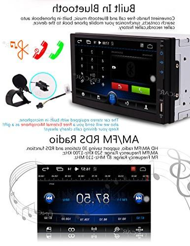 Android 6.0 Satellite Double Din Dash Car GPS Navigation Hands Bluetooth Colorful Key Lights Automotive Head