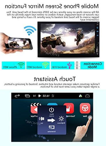 Android Satellite Din in Dash GPS Hands Free Bluetooth USB/SD Colorful Head