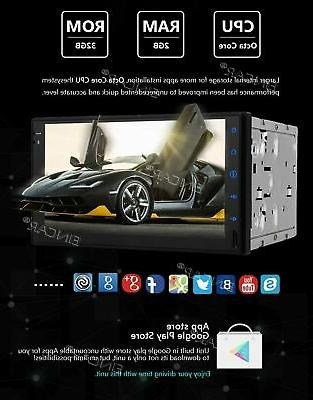 EinCar Android Octa Core 7 inch Car Double