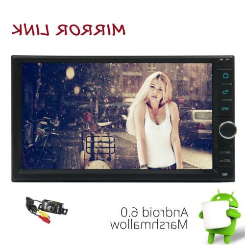 Android 7inch 2DIN Car Stereo WIFI GPS OBD+Camera