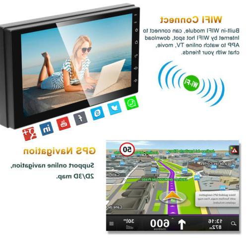 "Android8.1 Car Navigation Radio Player 2Din WIFI 7"" Inch Touch"