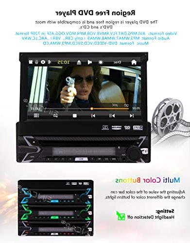 EINCAR Camera Included! inch Capacitive Touch Screen Wince System Single Din Support