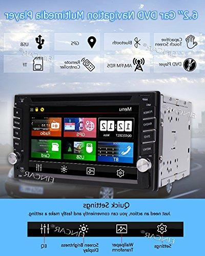 EinCar 6.2 Screen Double 2 Din In Car CD DVD GPS RDS Receiver CARD Remote