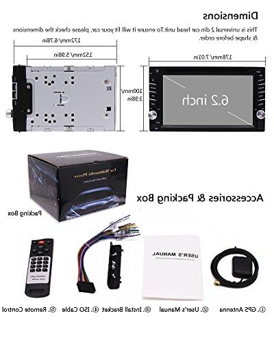 EinCar Screen Double Din In Car CD DVD GPS USB RDS AM/FM Car Stereo Receiver CARD Remote