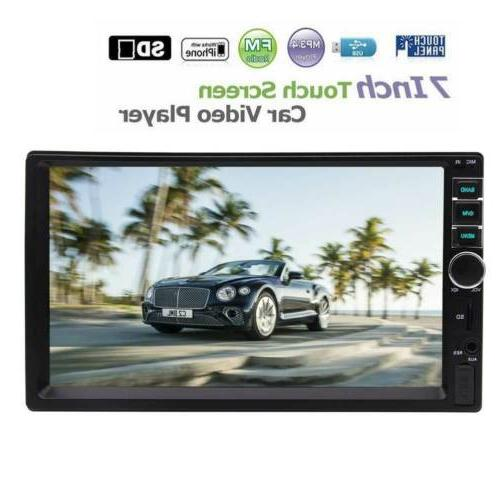car stereo double 2din 7 inch capacitive