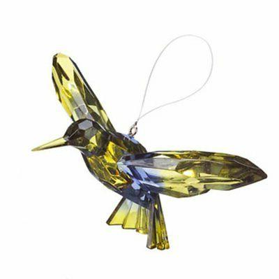 colorful 7 inch two toned hummingbird ornament
