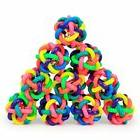 Colorful Rubber Dog Toys Pet Cat Round Woven Ball with Small