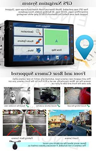 Eincar Developed Android HD Double Din Radio Stereo Support 1080P Mirrorlink Navigation Head Unit Stereo Reverse