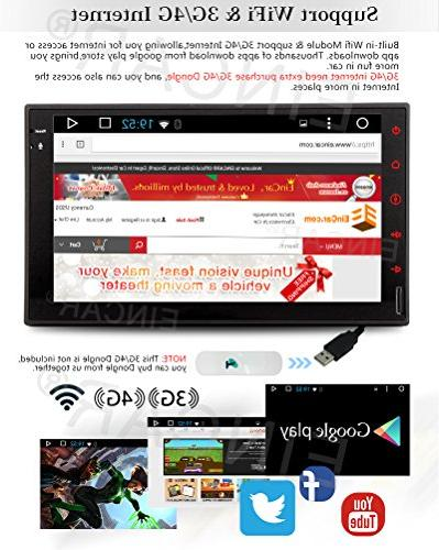 Eincar New Android Quad HD Capacitive Double 2 Radio Stereo Support 1080P Mirrorlink Auto GPS Navigation Head