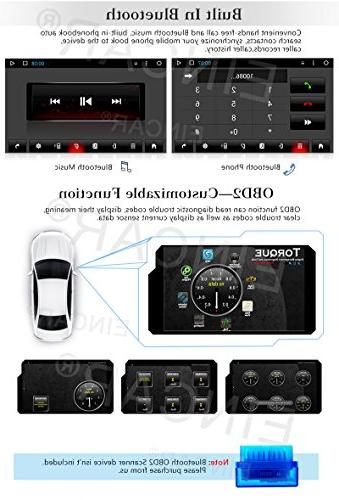 Eincar New Android 6.0 HD Double 2 Din Car Radio Support Bluetooth 1080P Mirrorlink Navigation Head Unit Stereo Reverse