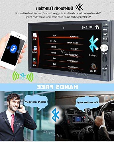7 Inch Universal Din Win CE Operation System Touch Screen DVD support Mirror-Link Rear AM/FM USB