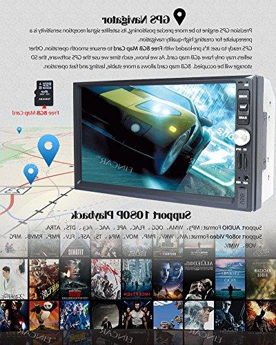 7 Inch Double Din Car Stereo Win CE Touch Screen Car DVD Player support GPS Mirror-Link View Camera AM/FM