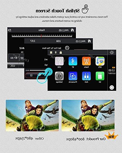 7 Inch Universal Double Din Car CE Operation Screen DVD support GPS Mirror-Link AM/FM USB TF