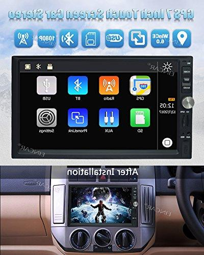 7 Inch Din Car CE Operation Screen DVD Player support GPS Mirror-Link Rear View AM/FM USB TF 1080P