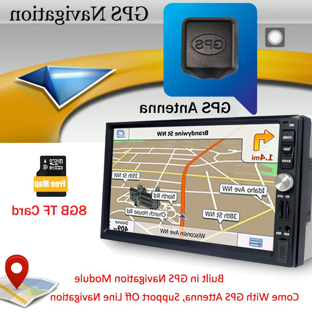 Double 2 DIN Camera Inch GPS USB