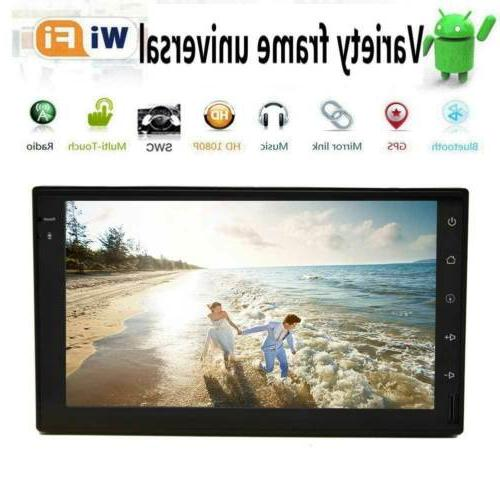 Double 2Din 7inch Android 8.1 Radio Stereo GPS OBDII