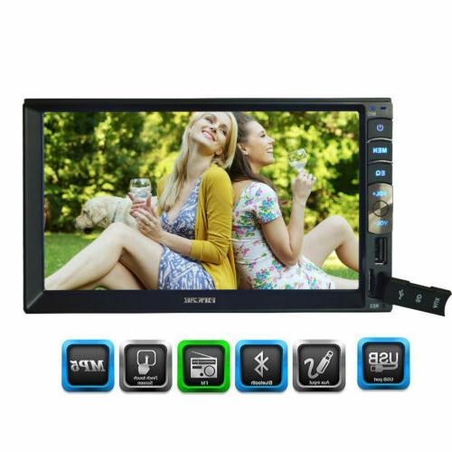 "7"" Inch 2DIN Car MP5 BT Tou+ch Screen Stereo HD+Free Camera"