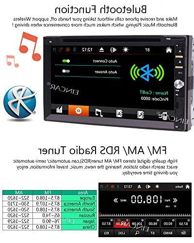 Eincar Double Din Bluetooth Car Car Navigation MP5 Video Player HD Touch Support FM/AM/SWC/BT/USB/TF/AUX/Cam-In Remote