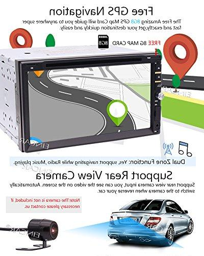 Din Stereo Car DVD/CD Player GPS Navigation MP5 Player Screen Support FM/AM/SWC/BT/USB/TF/AUX/Cam-In