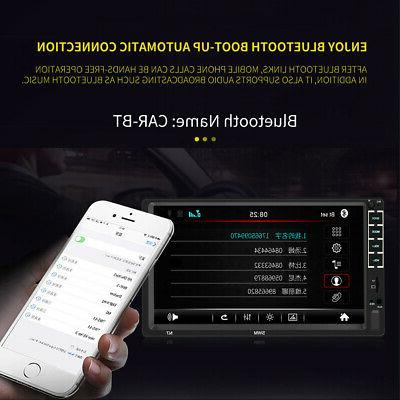 B Din Car Stereo 7 Inch Touch 12LED Backup