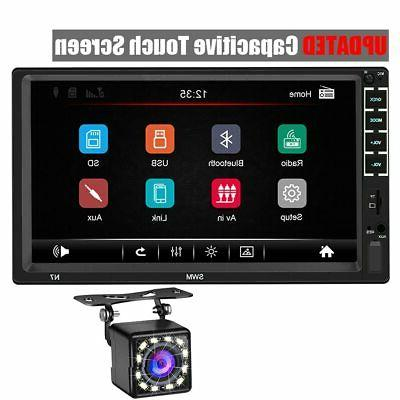 double din car stereo 7 inch capacitive
