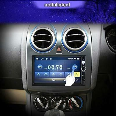 Double Car in-Dash Bluetooth Touch 7