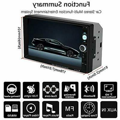 Double Car In-Dash Touch Screen 7 With Radio
