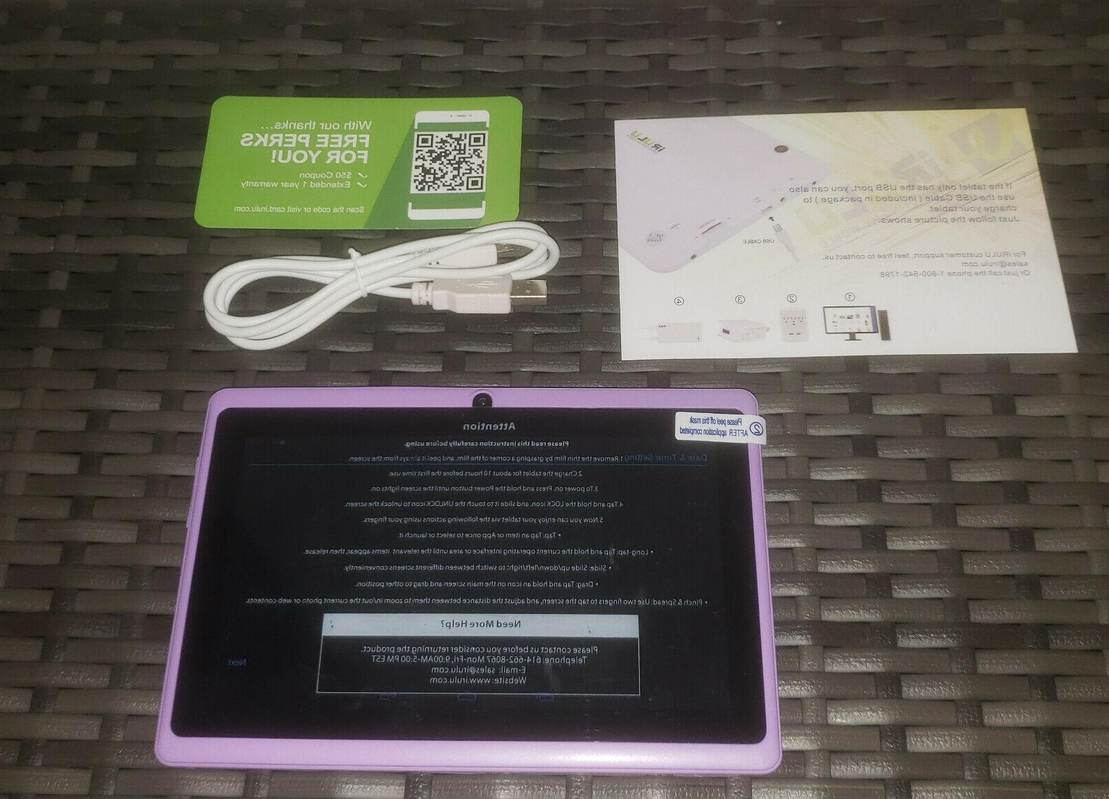 expro x1 7 inch android purple tablet
