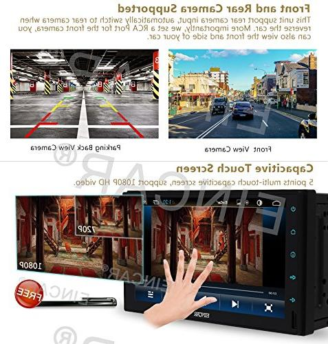 Double EinCar 6.0 7'' In Dash GPS Support Mic/WiFi with Front & Camera