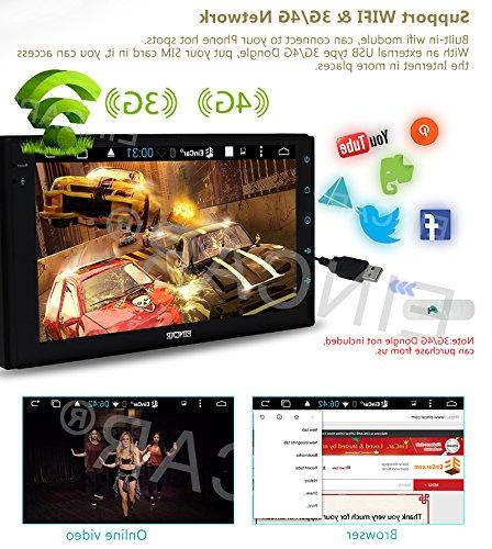 Double EinCar 6.0 7'' screen In Dash Navigation Headunit GPS Vehicle Support 1080P/Bluetooth/Mirrorlink/External