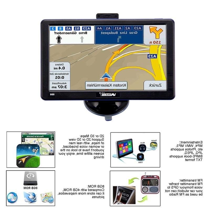 <font><b>7</b></font> <font><b>inch</b></font> Car Navigation 256M/8G Sat Nav Navigator With Rearview FM Maps