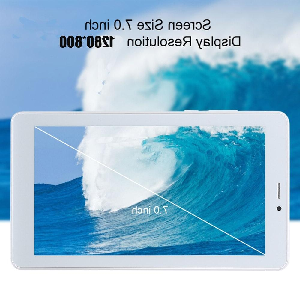 <font><b>7</b></font> <font><b>inch</b></font> Android 8.1 3G Call 16GB Quad 1.5GHz Dual GPS Wi-Fi Bluetooth Tablet