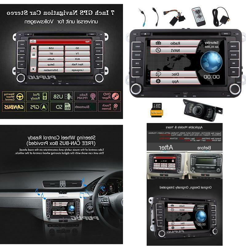 Free Reversing Camera + EinCar Double Din 7 Inch Car Stereo