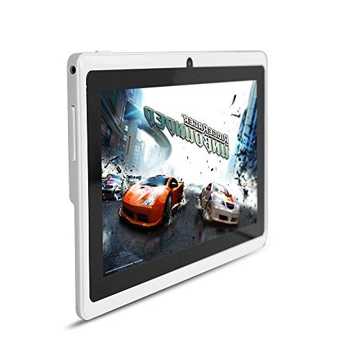 Yuntab Google Android Tablet PC 8GB 1024x600 Resolution Camera Google Pre-loaded Game, White