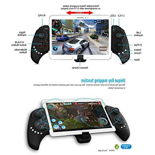iPega PG-9023 Wireless Gamepad Game Controller, Joystick 5-10 Tablets Phones, PC, Android, Samsung Tab S2 Note Galaxy S9+ S8+ Huawei