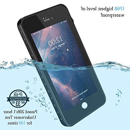 iPhone 7/8 Gnais Case Built-in Screen Protector Cover for 4.7 inch(Black)
