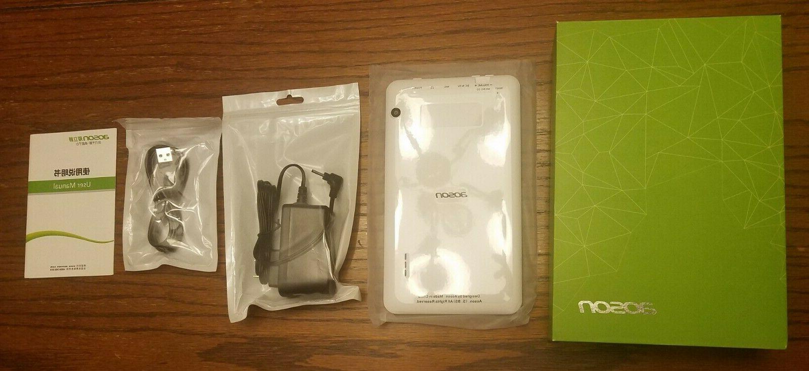 Aoson Android White Tablet 8GB Bluetooth
