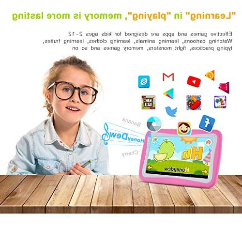 BENEVE 7 Inch Tablet with 8GB ROM WiFi, Kids Pre-Installed